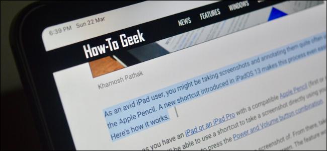 iPad Pro showing the text cursor in Safari