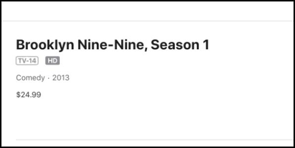 iTunes Brooklyn Nine-Nine