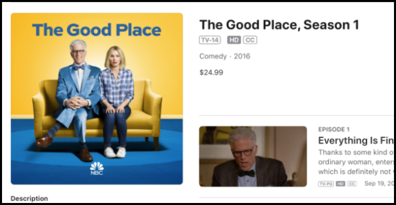iTunes The Good Place