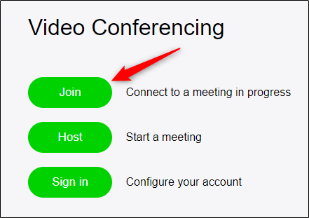 join meeting via web browser