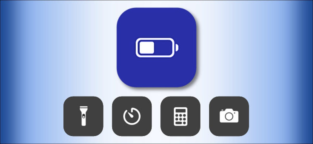 Low Battery Mode icon in iOS Control Center