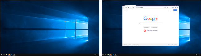 Window moved between displays in Windows 10