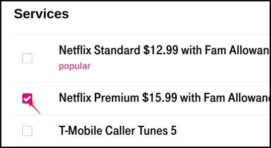 T-Mobile Remove Netflix
