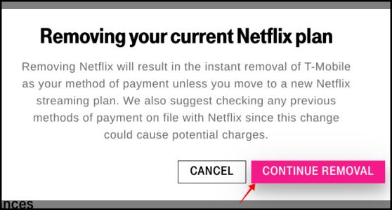 T-Mobile Netflix Cancelation