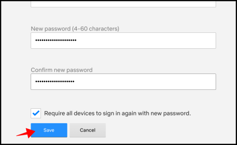 Netflix Save New Password