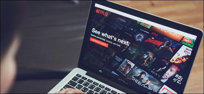 Netflix on a Laptop