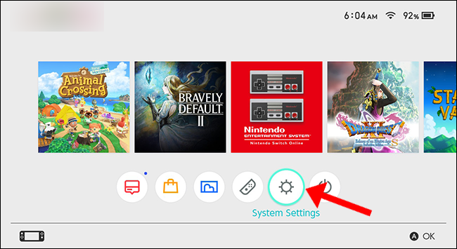 nintendo switch system settings