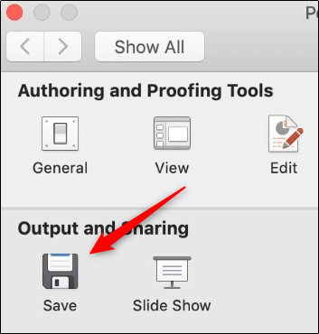 output and sharing mac