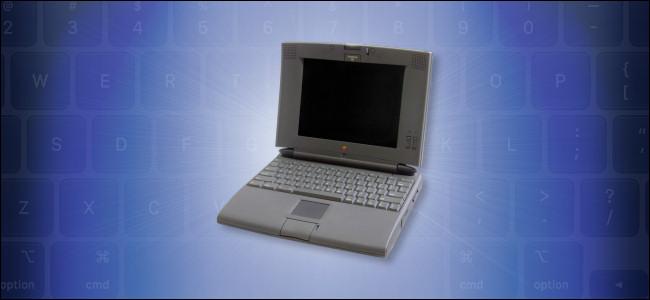 Una computadora Apple PowerBook 540c.