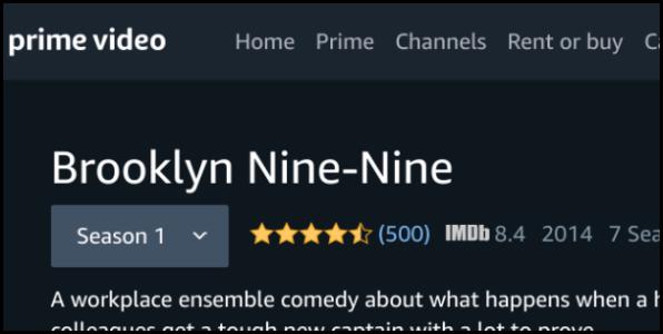 Amazon Prime Video Brooklyn Nine-Nine