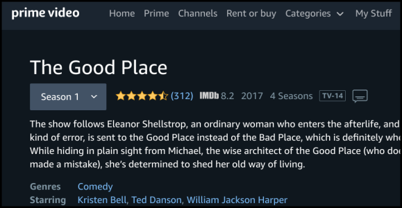 Amazon Prime Video The Good Place