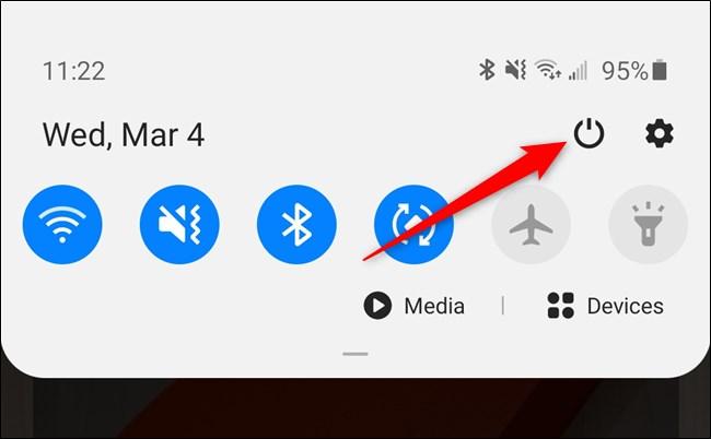 Samsung Galaxy S20 Notification Shade