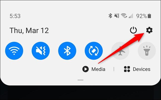 Samsung Galaxy S20 Select the Settings Menu Gear Icon