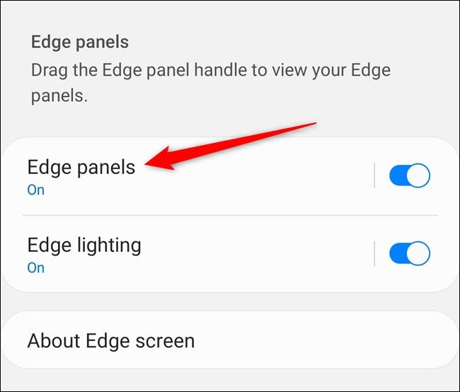 "Samsung Galaxy S20 Tap ""Edge Panels"""