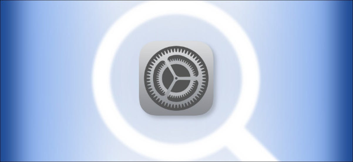 iOS and iPadOS Settings Logo