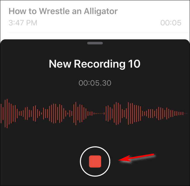 Stop Recording a Voice Memo in iOS