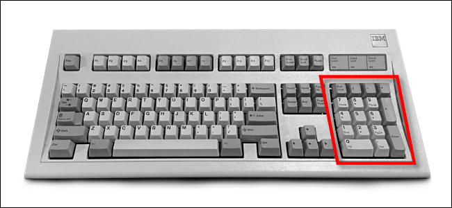 Numeric keypad on an IBM Model M Keyboard
