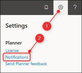 The Planner settings options.