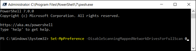 Type the command into the PowerShell window and press Enter.