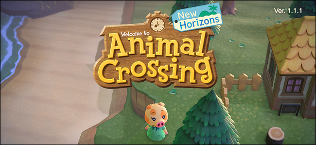 Animal Crossing New Horizons start menu