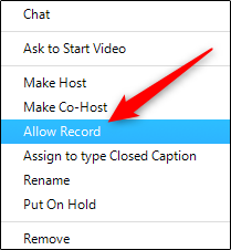 Allow recording