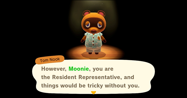 Animal Crossing New Horizons resident rep
