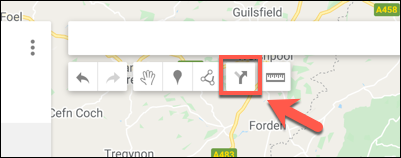Press the Add Directions option to add a new directions layer to a custom Google Maps map