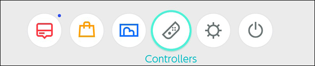 Nintendo Switch Controller Home Menu