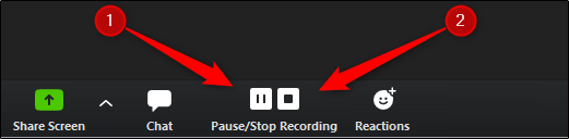 Pause and stop recording