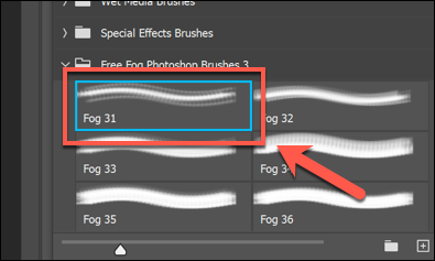 A selected third-party brush in Photoshop