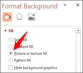 Picture or texture fill option