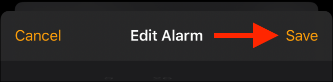 Tap on Save button to save the alarm tone