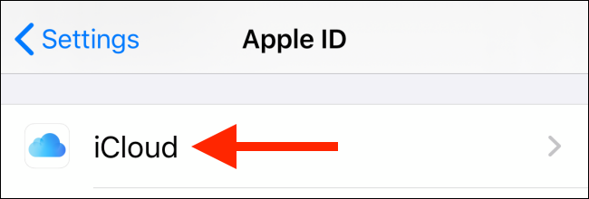 Tap on iCloud from profile screen