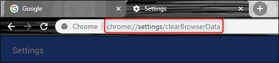 chrome settings url