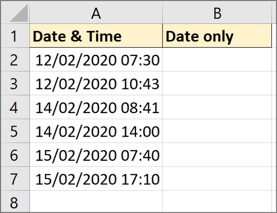 Date and time sample data