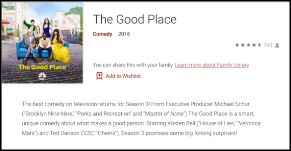 Google Play The Good Place