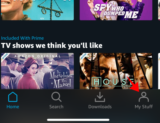 Prime Video Mobile Home Page