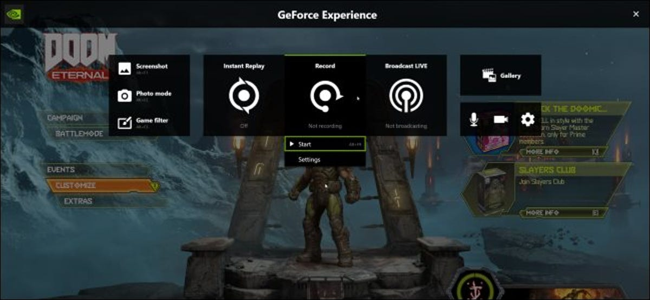 Recording Doom Eternal with NVIDIA ShadowPlay/Share