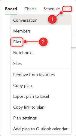 "The ""Files"" menu option."