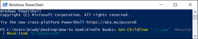 Moving files in PowerShell.