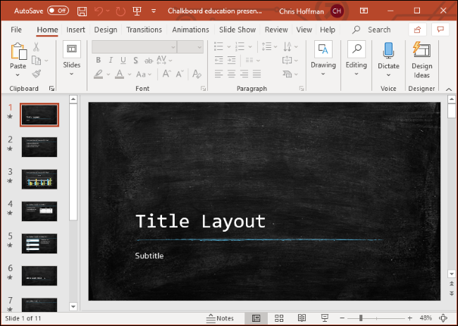 Microsoft PowerPoint on Windows 10