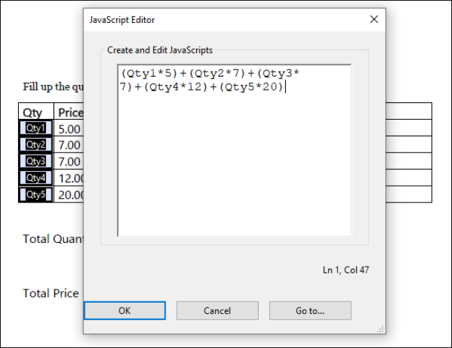 Acrobat Filled Simple Notation