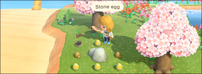 Animal Crossing New Horizons Bunny Day stone egg