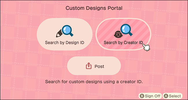 Animal Crossing New Horizons Custom Design Kiosk_Creator ID