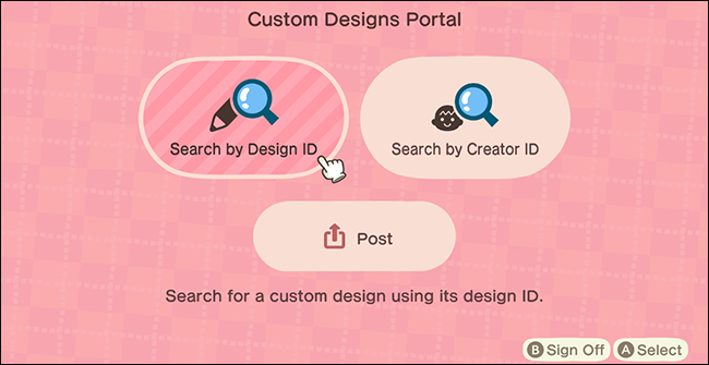 Animal Crossing New Horizons Custom Design Kiosk_Design ID