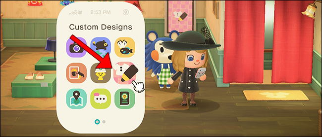 Animal Crossing New Horizons custom design app nook phone