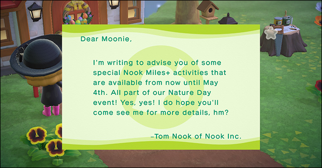 AnimalCrossing_New Horizons Nature Day Nook Miles Mail