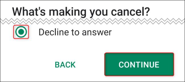 Cancel Quibi Step 7 Cancel Reason