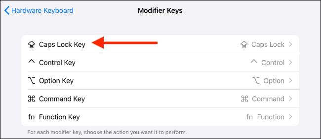 Choose the key to modify