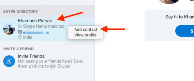 "Click ""Add Contact."""